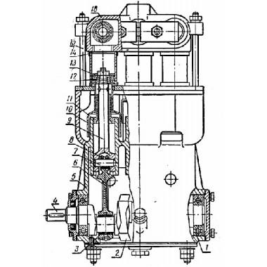 Поршневой насос УН-41000 старого образца на ОПВ и ОПШ: каталог (схема) запчастей
