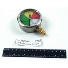 Манометр 0-16 атм, резьба М12*1,5 глицериновый