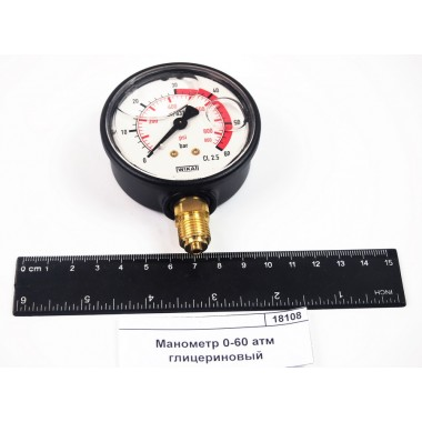 Купить Манометр 0-60 атм глицериновый WIKA, 8302057, WIKA Республика Крым