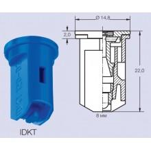 Инжекторный распылитель 03 синий LECHLER IDKT120-03 двуфакельный