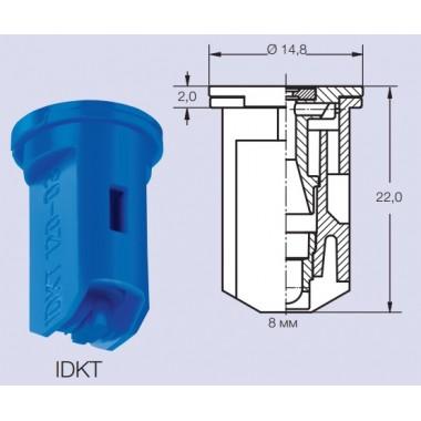 Купить Инжекторный распылитель 03 синий LECHLER IDKT120-03 двуфакельный, 6TK.407.56.00.00.0, Lechler Республика Крым